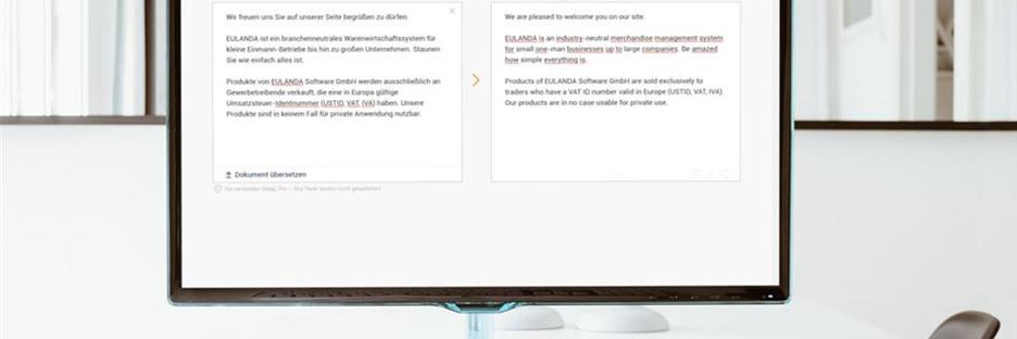 EULANDA und nopCommerce automatisch übersetzen