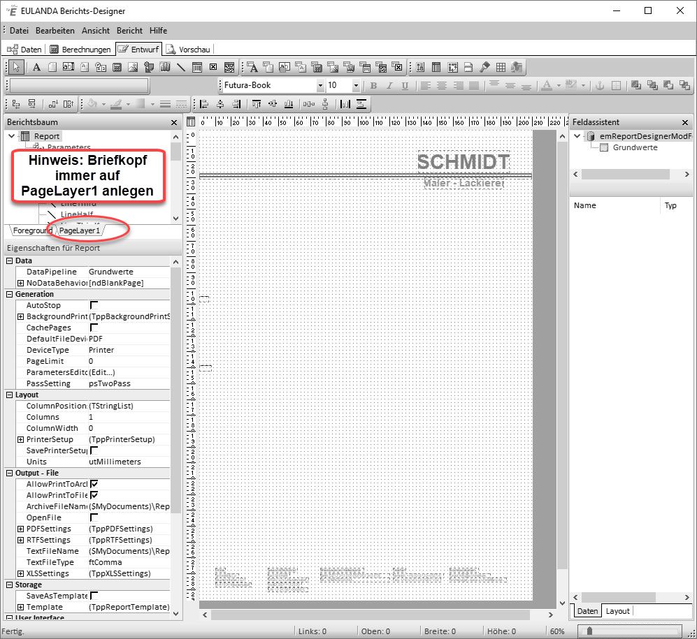 Eulanda Software Briefkopf