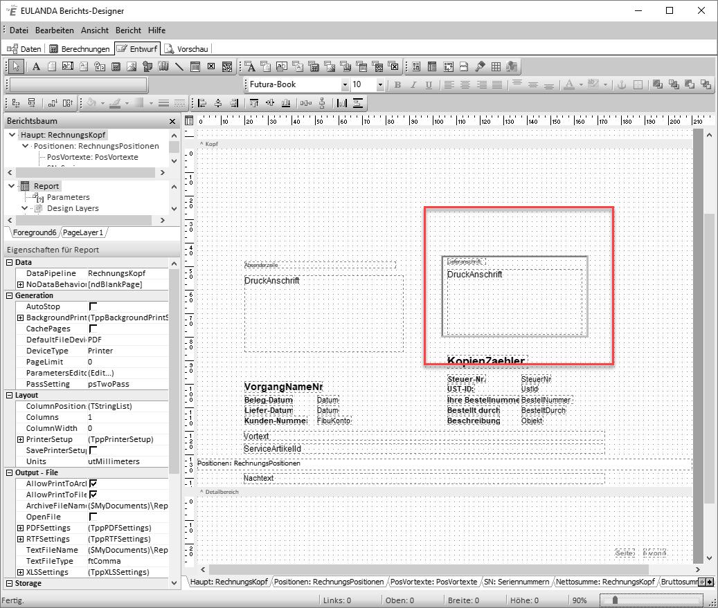 cd34b0ea4db240 EULANDA® Software - Lieferanschrift löschen
